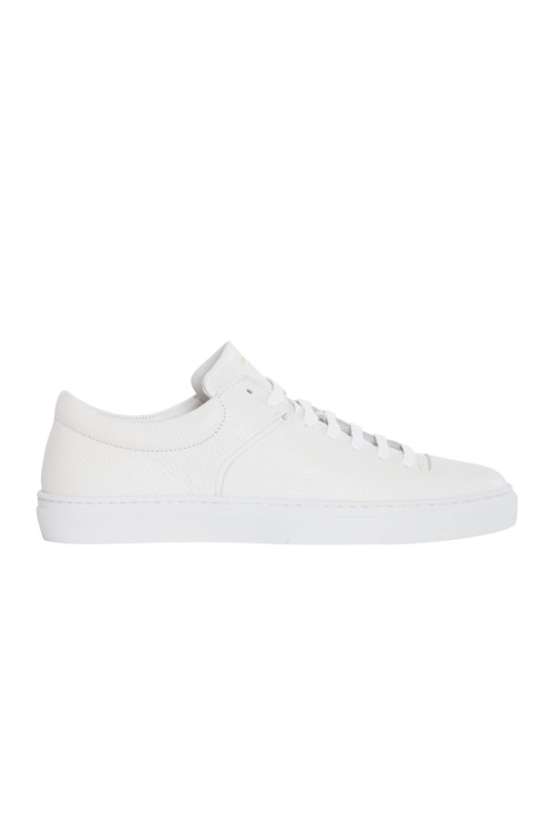 Jim Rickey Cloud Tumbled Leather Sneakers - White