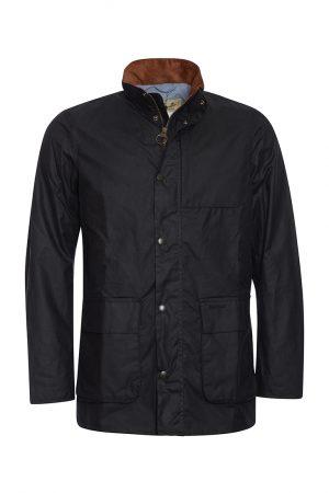 Barbour Adderton Wax Jacket - Navy