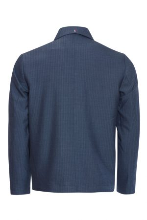 Les Deux Marseille Herringbone Jacket - Dark Navy