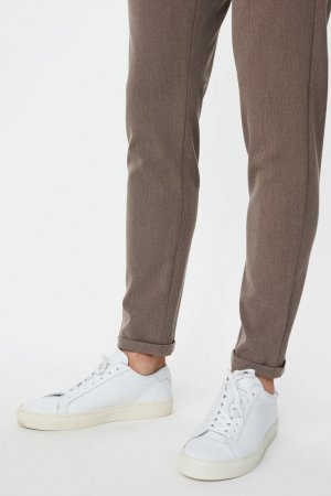 Les Deux Como Suit Pants - Brown Melange