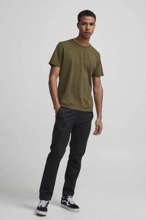NN07 Ethan Print T-shirt - Military Green