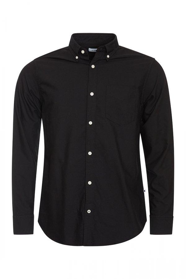 NN07 Levon Oxfordskjorta - Svart