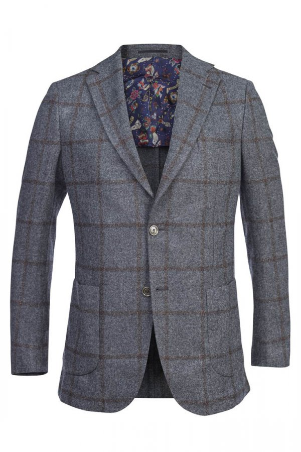 Hansen & Jacob Mousse Overchecked Jacket - Antracit