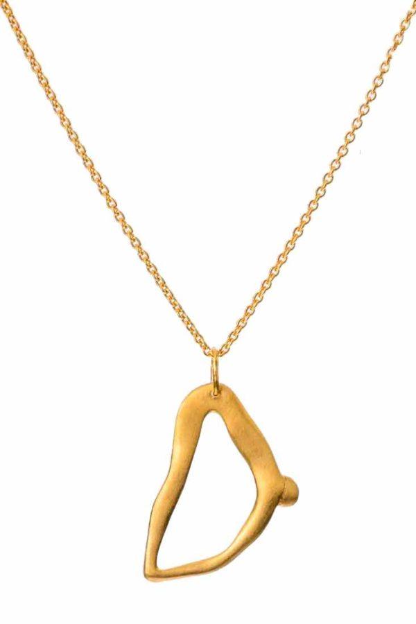 Bjørg Nude Alphabet Small D Guld