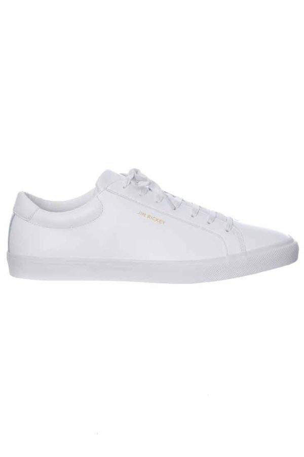 Jim Rickey Chop Leather Sneakers - White