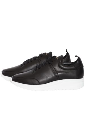 Jim Rickey Cloud Runner Flat Leather - Black
